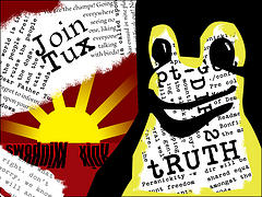 """Join the revolution! (art thanks to """"7 Bits ofTruth"""")"""