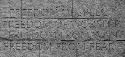 Franklin Roosevelt's Four Freedoms - Thanks to